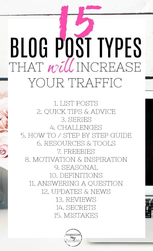 List of 15 Blog Post Types