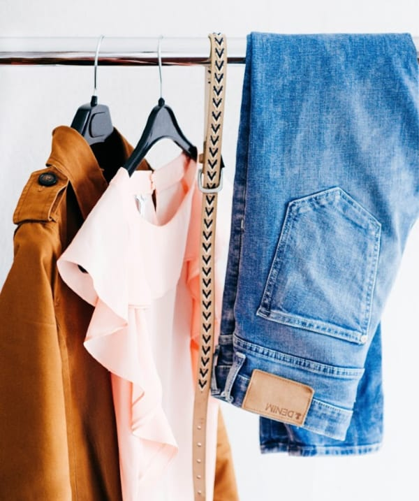 Clothes on a clothes rail