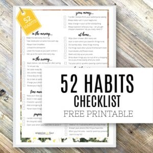 52 Habits that Can Change Your Life - Free Printable Checklist