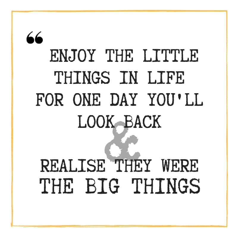 Enjoy the Little Things - Quote