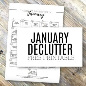 Free printable declutter checklist for January