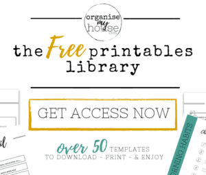 Get Access to over 50 Free Organising Printables