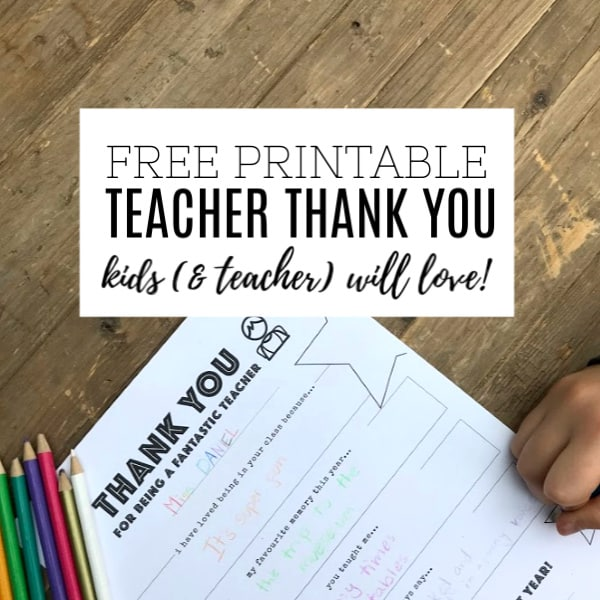 Teacher Thank You Letter - Free Printable Template For Kids
