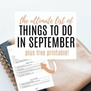 Printable checklist of things to do in September