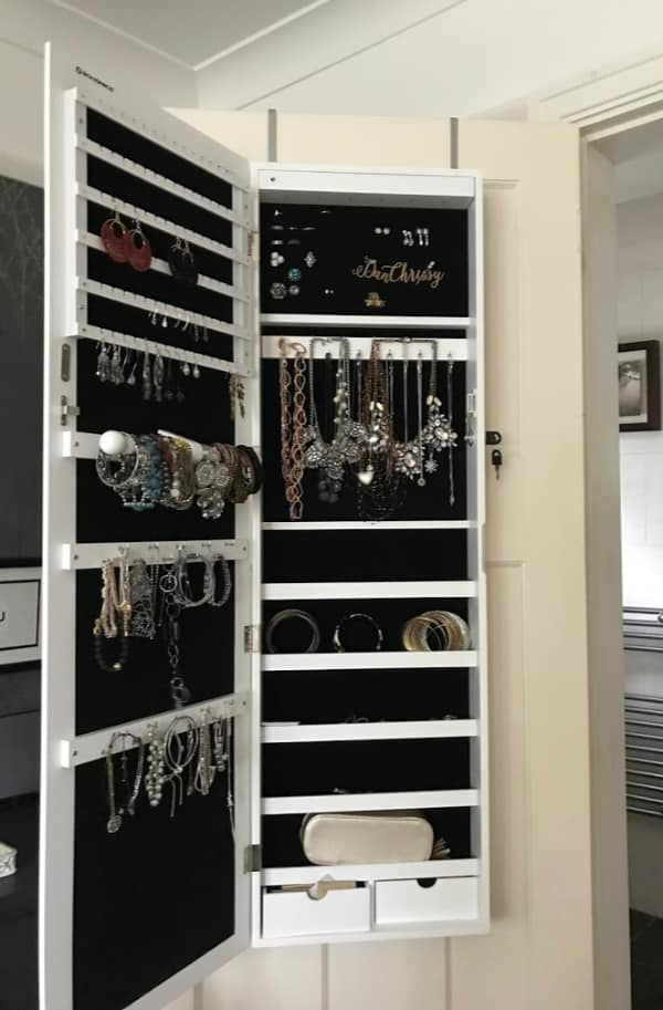 Jewellery Storage Cabinet Full of Costume Jewellery