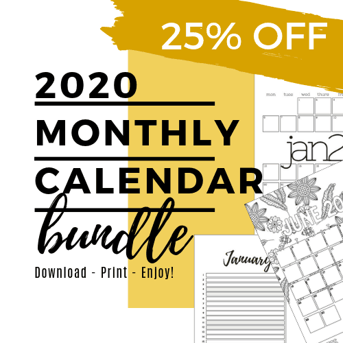 Monthly Planner Bundle