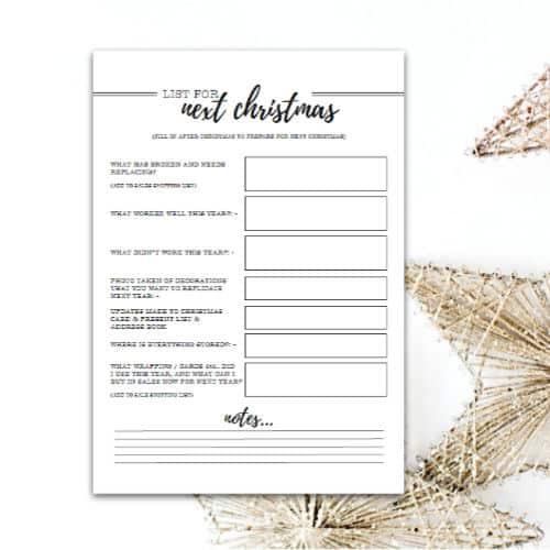 Printable For Next Christmas