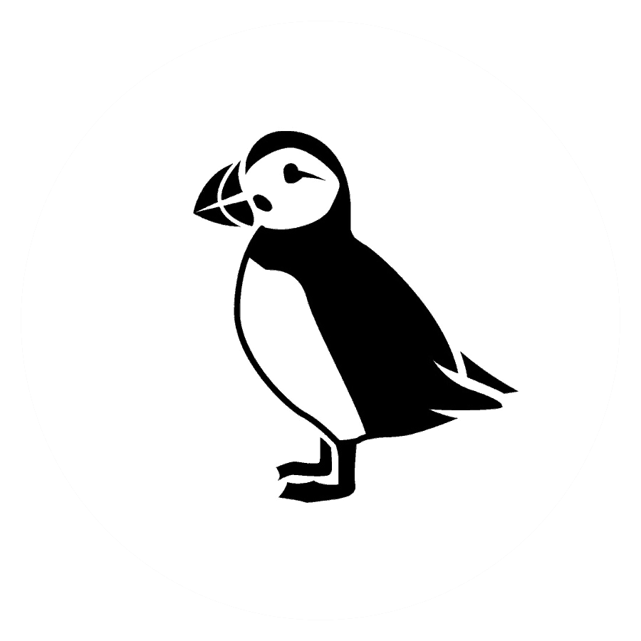 Black and White Puffin Picture