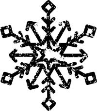 Snowflake Black and White Stamp