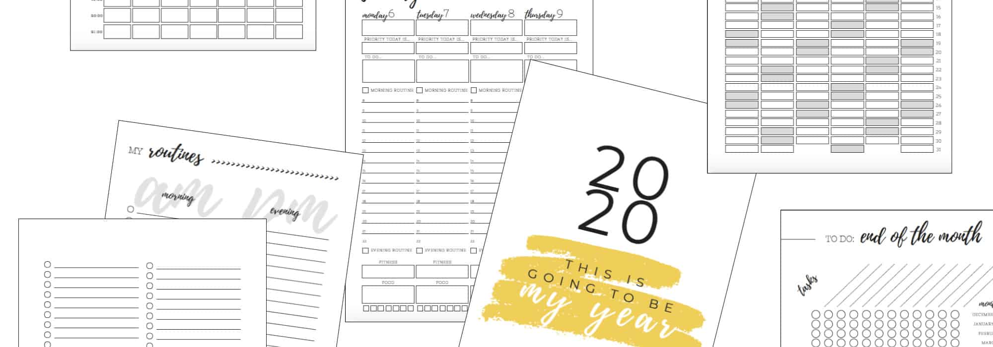 2020 Life Planner Printable Pages
