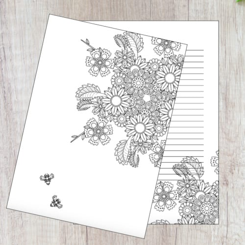 Planner pages - Colouring In