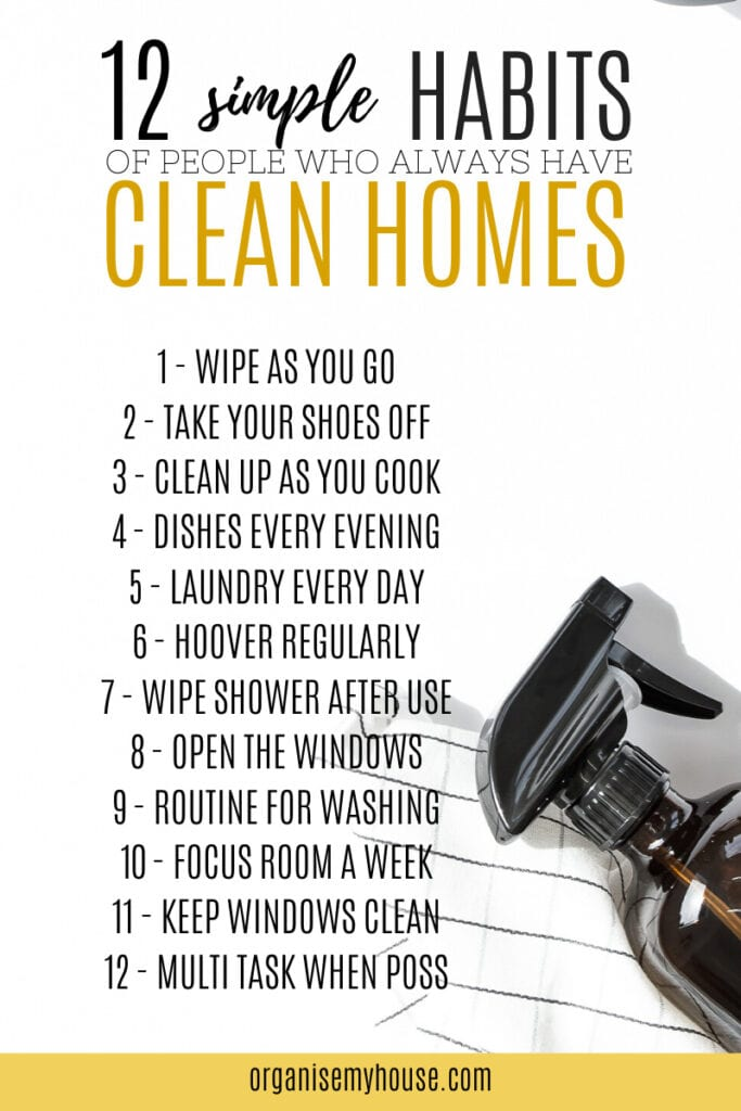 12 simple habits of people who always have clean homes