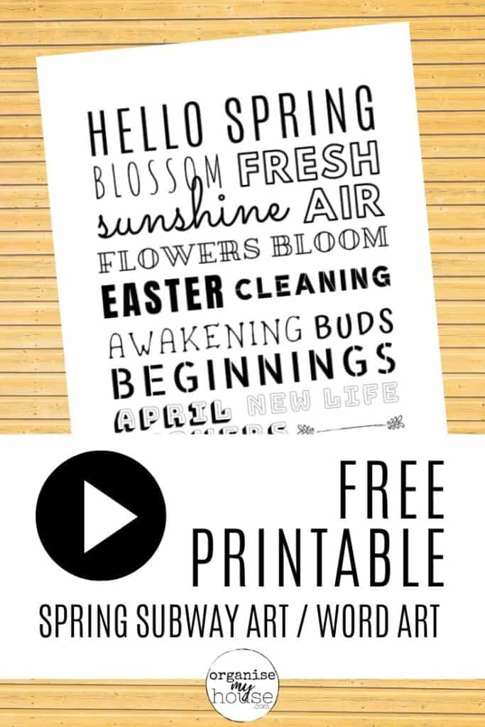 Free Printable Spring Art (Subway / Word) For Your Home