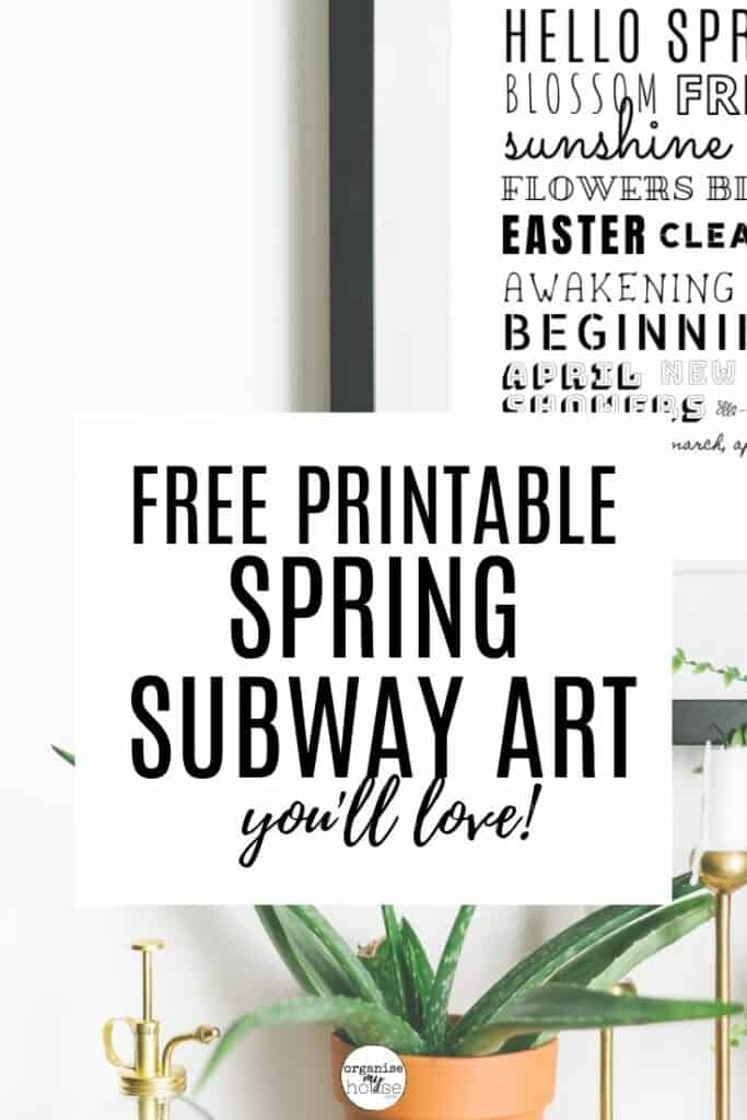 Subway Art on wall in black frame behind title wording