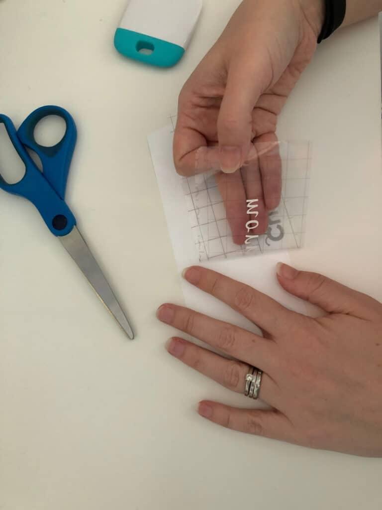 Peeling label off using transfer tape