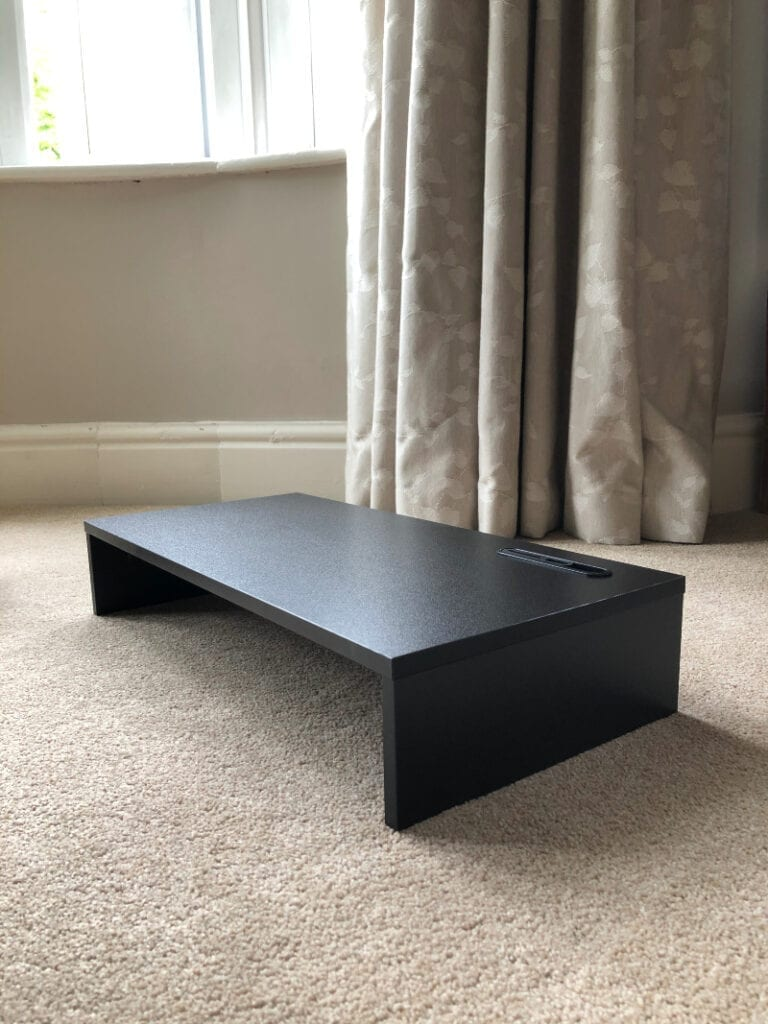 Computer stand for adding to TV storage