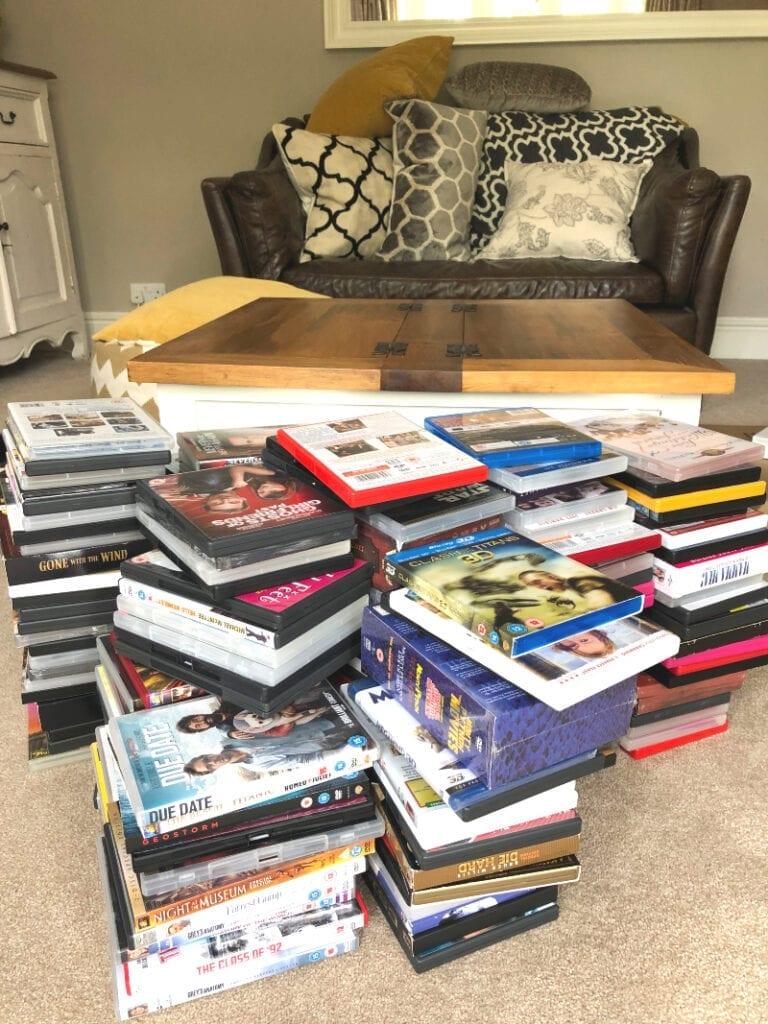 Piles of DVDs