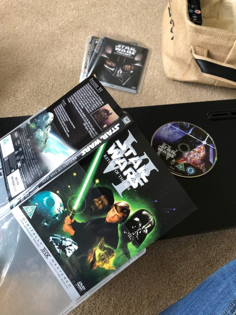 Taking DVD cover out of case