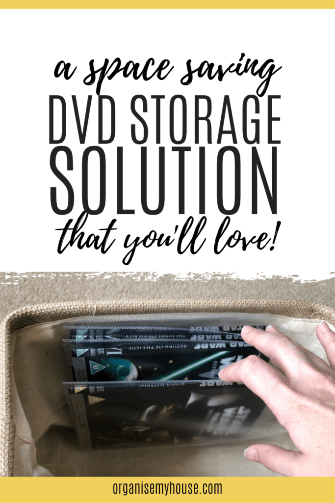 Sorting through DVDs in new dvd storage system