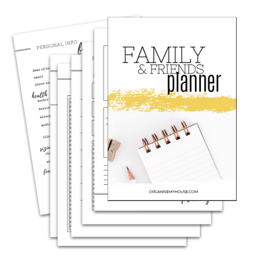 Family and Friends Planner - Part of the Home File