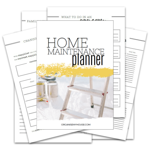 Home Maintenance Planner - Part of the Home File