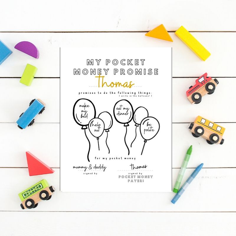 Kids File - Pocket Money Promise