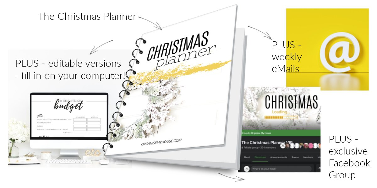 Christmas Planner Package Contents
