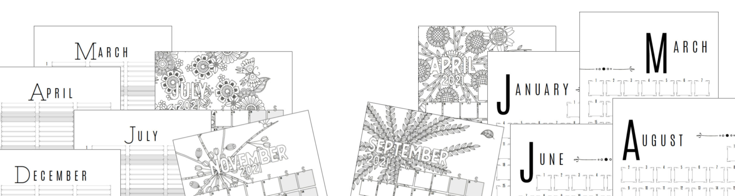 2021 Calendar Bundle Front Cover