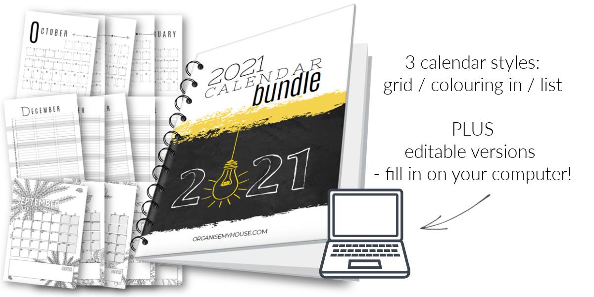 2021 calendar bundle