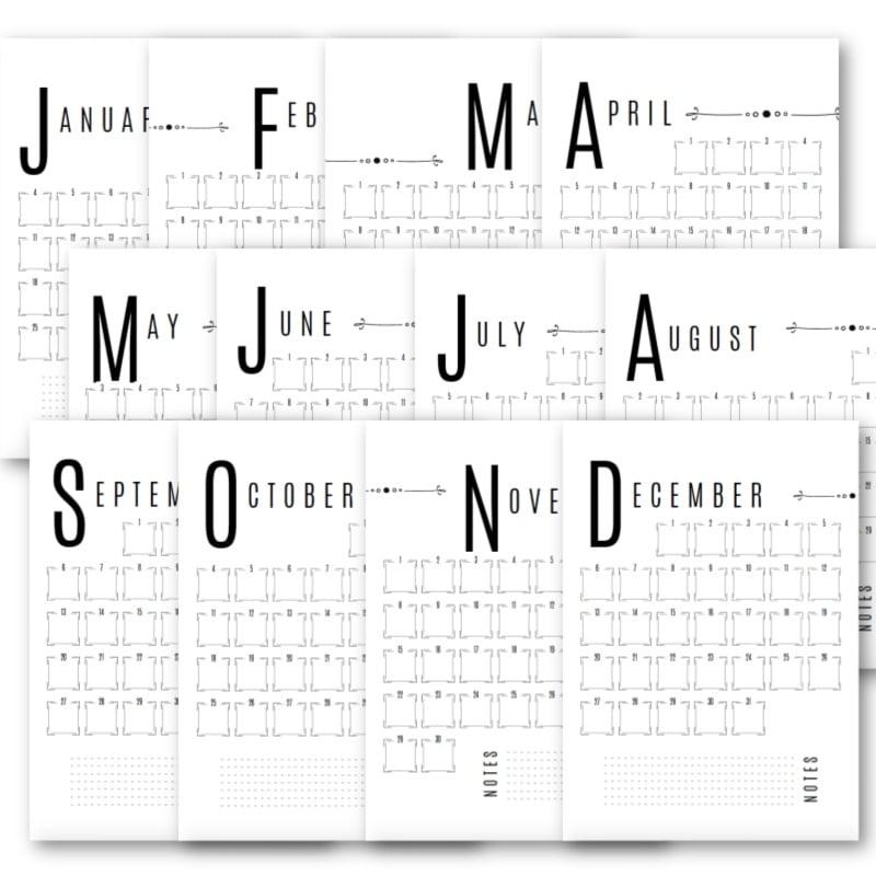 grid calendar 2021