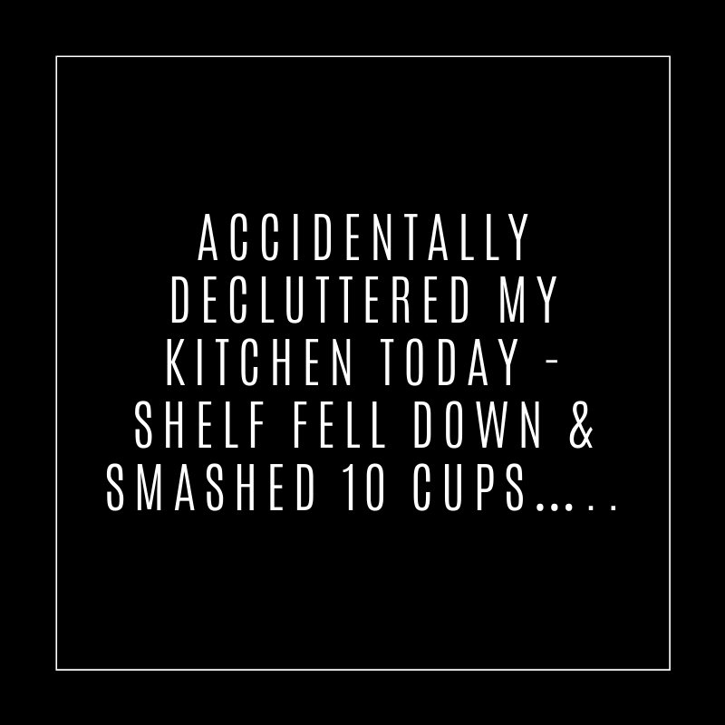 Accidentally decluttered the kitchen...