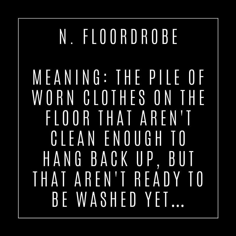 Description of floordrobe - the wardrobe you have on your floor!
