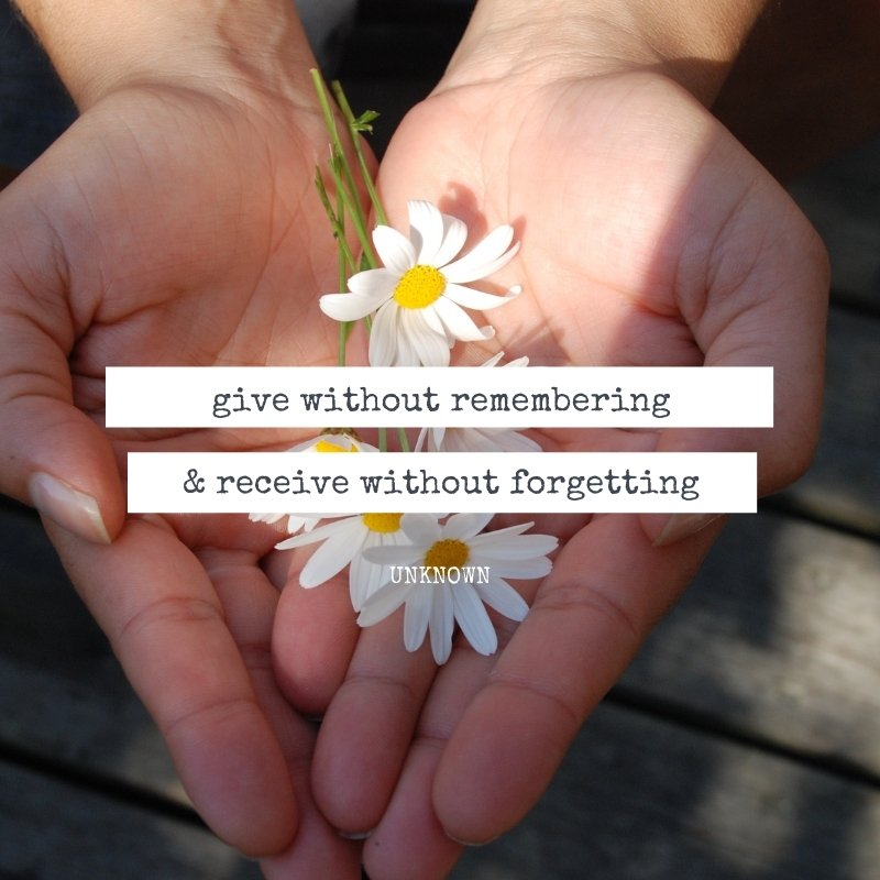 Quote about giving
