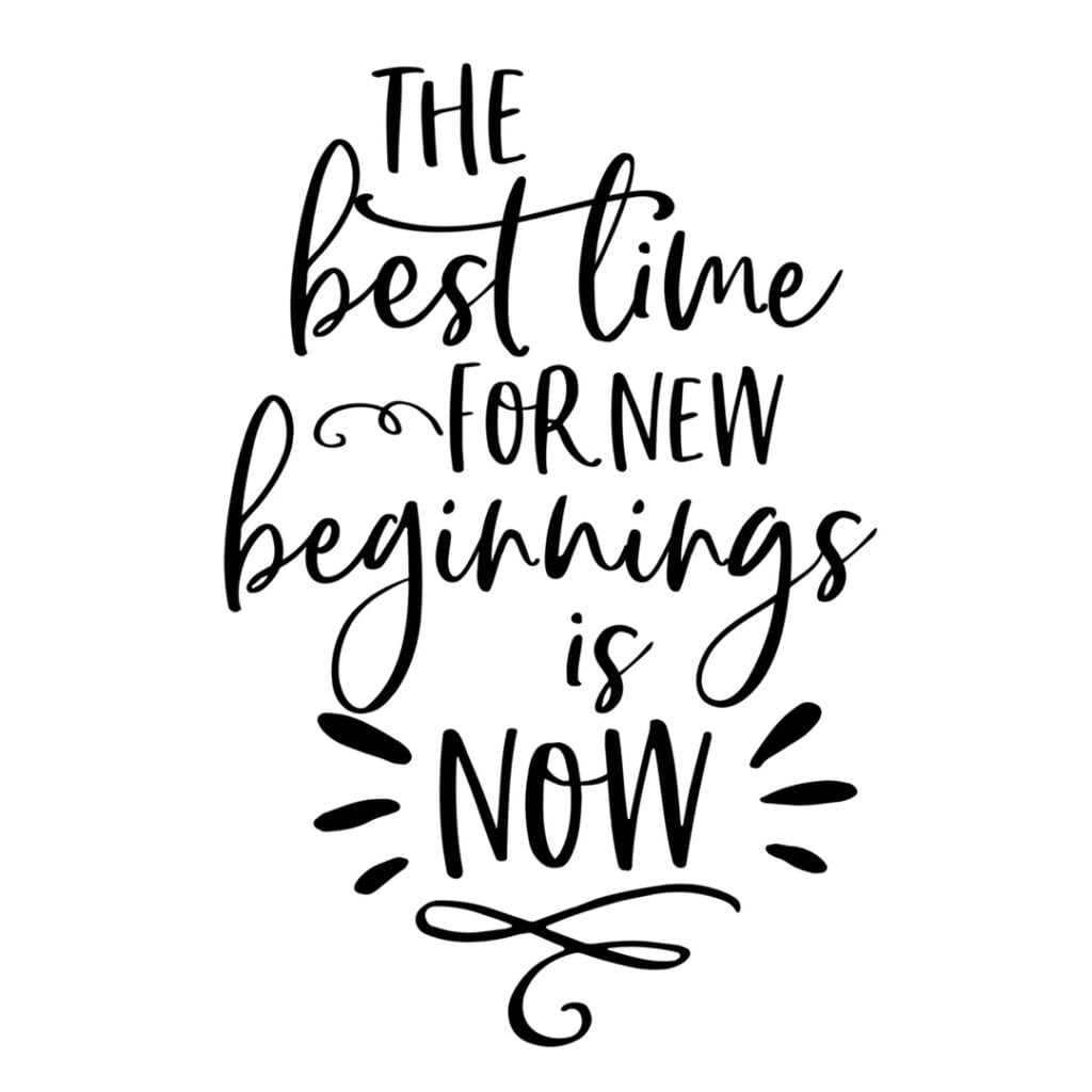Quote - The best time for new beginnings is now