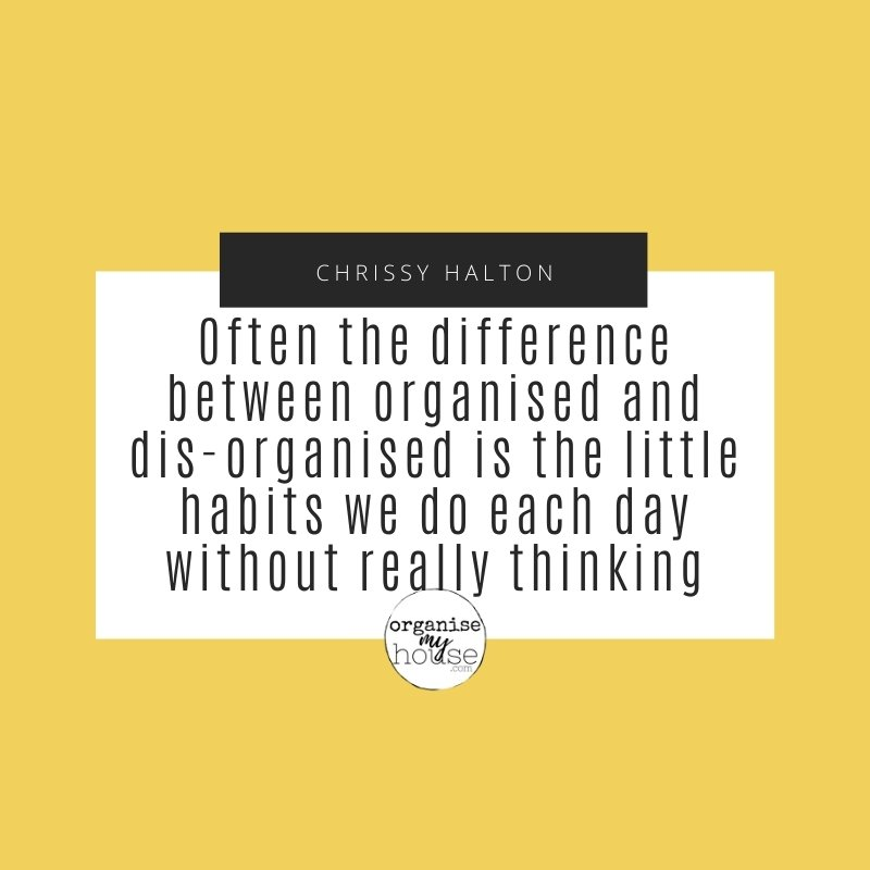 Organising Quote - The difference between organised and disorganised
