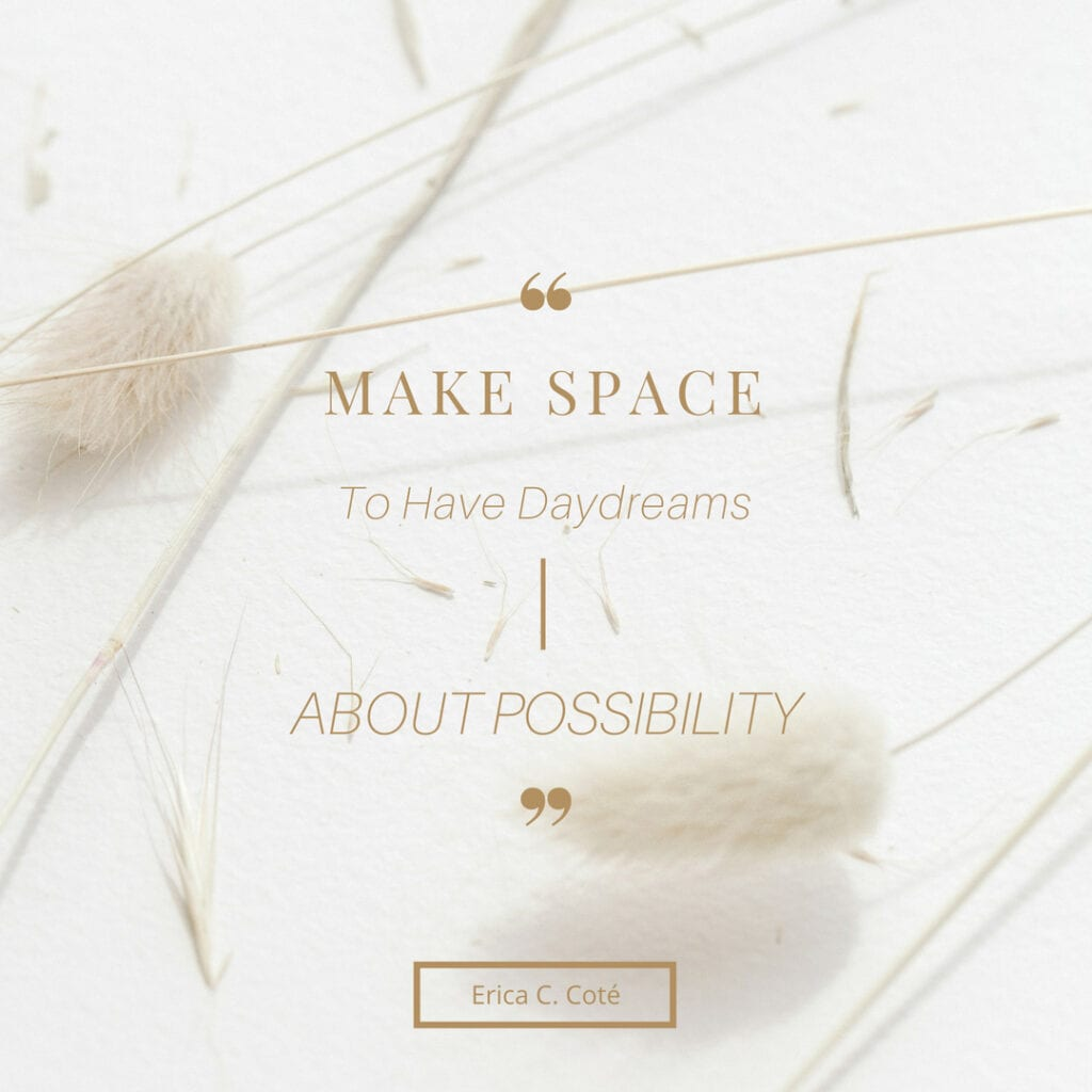Quote - Make space for what matters