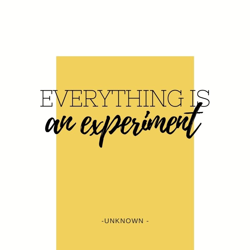 Quote - Everything is an experiment