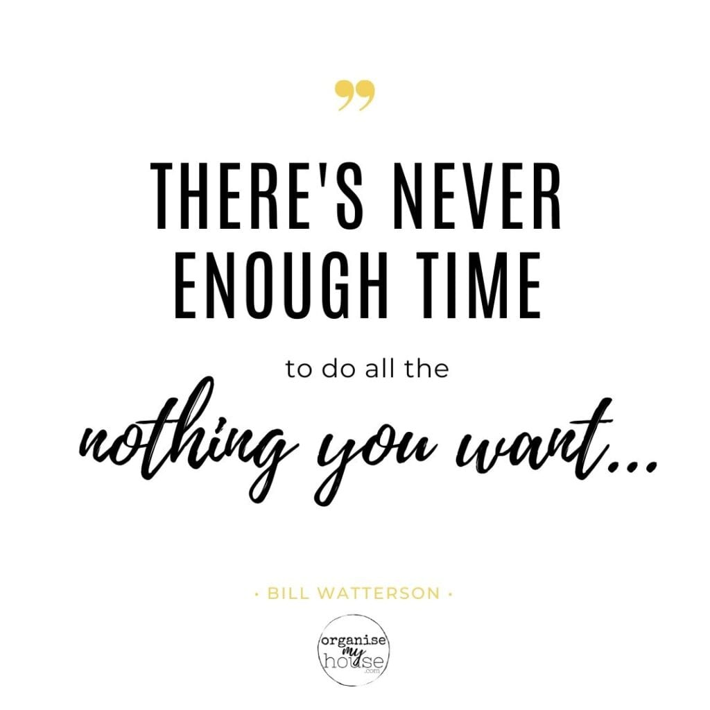 Quote - There's never enough time to do all the nothing you want