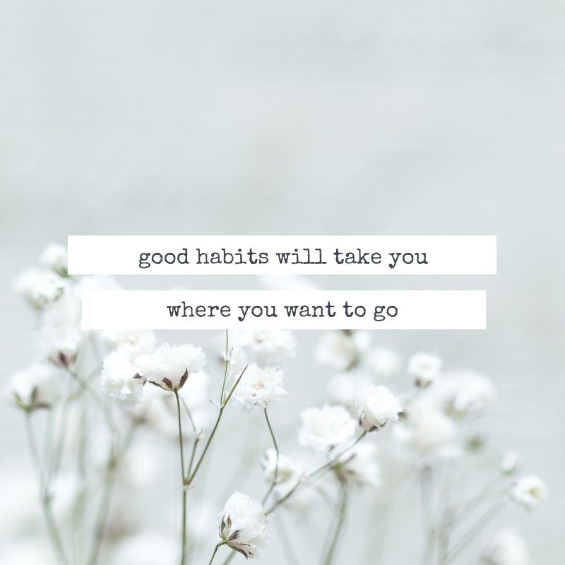 Quote - Good habits will take you where you want to go