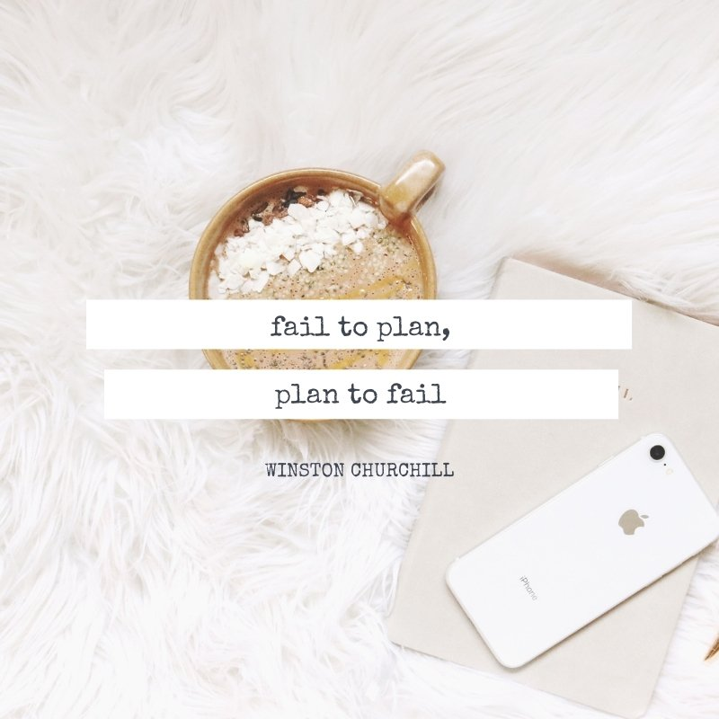 Quote - Fail to plan, plan to fail