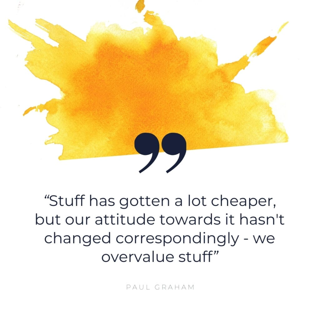 Clutter Quote about STUFF