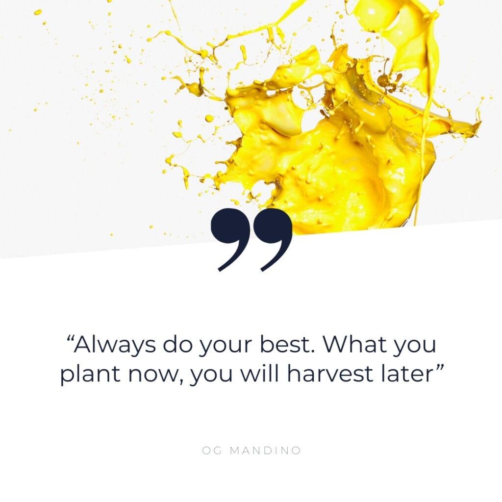 Quote - always do your best