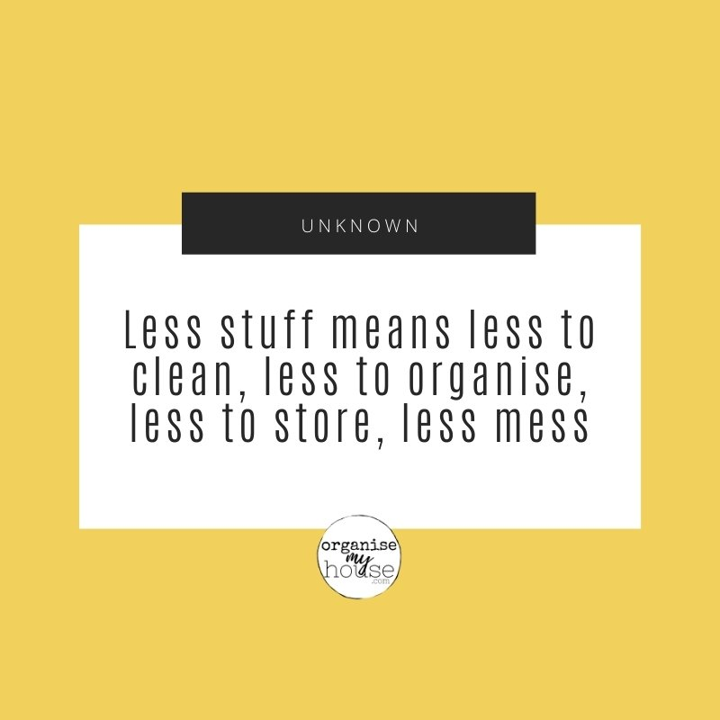 Clutter quote about having less stuff