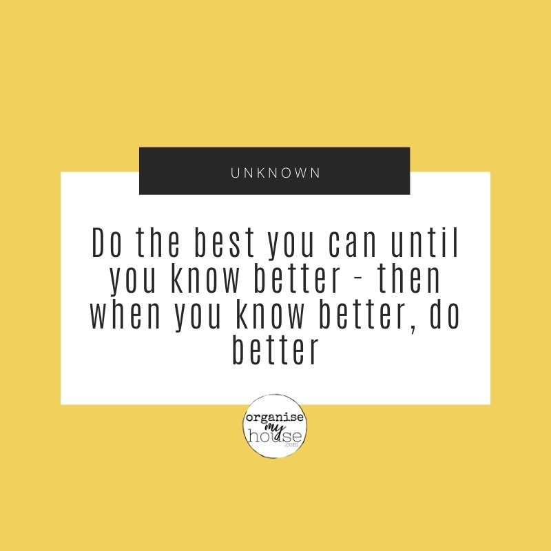 Quote - do the best you can until you know better