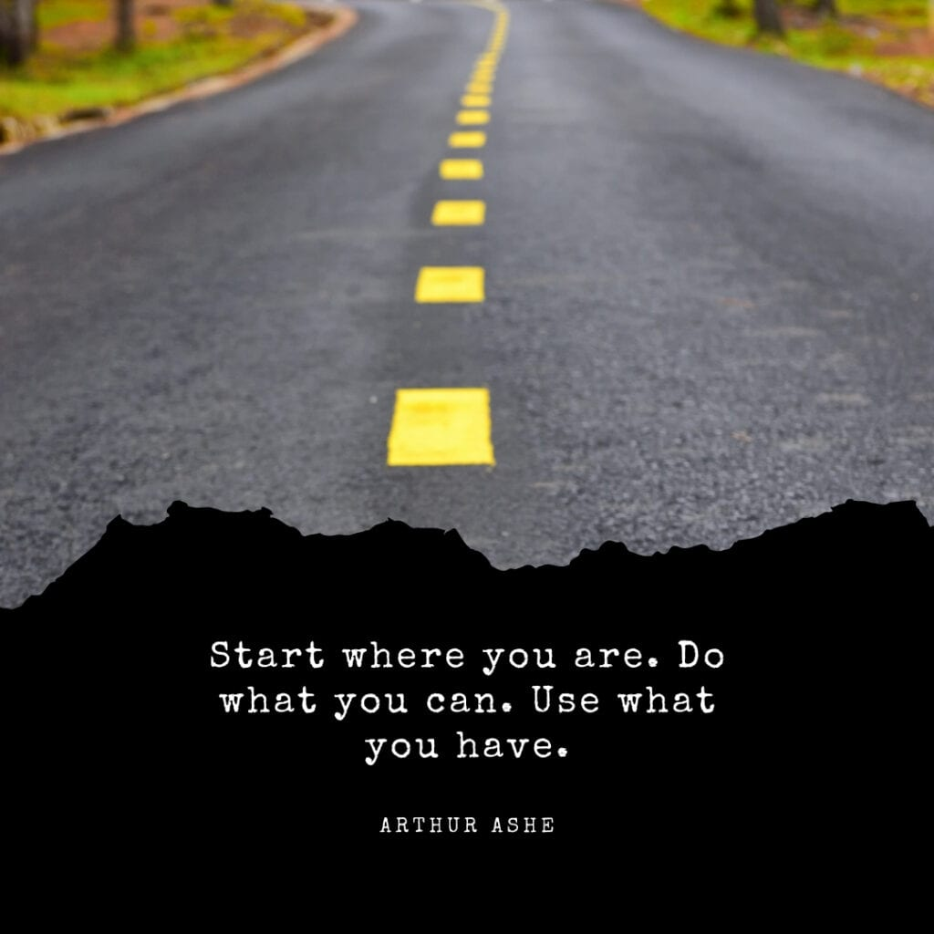Quote - start where you are