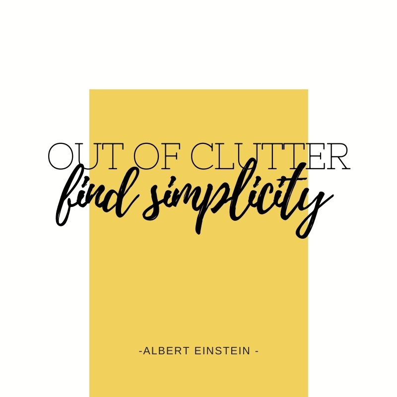 QUOTE - Out of clutter, find simplicity