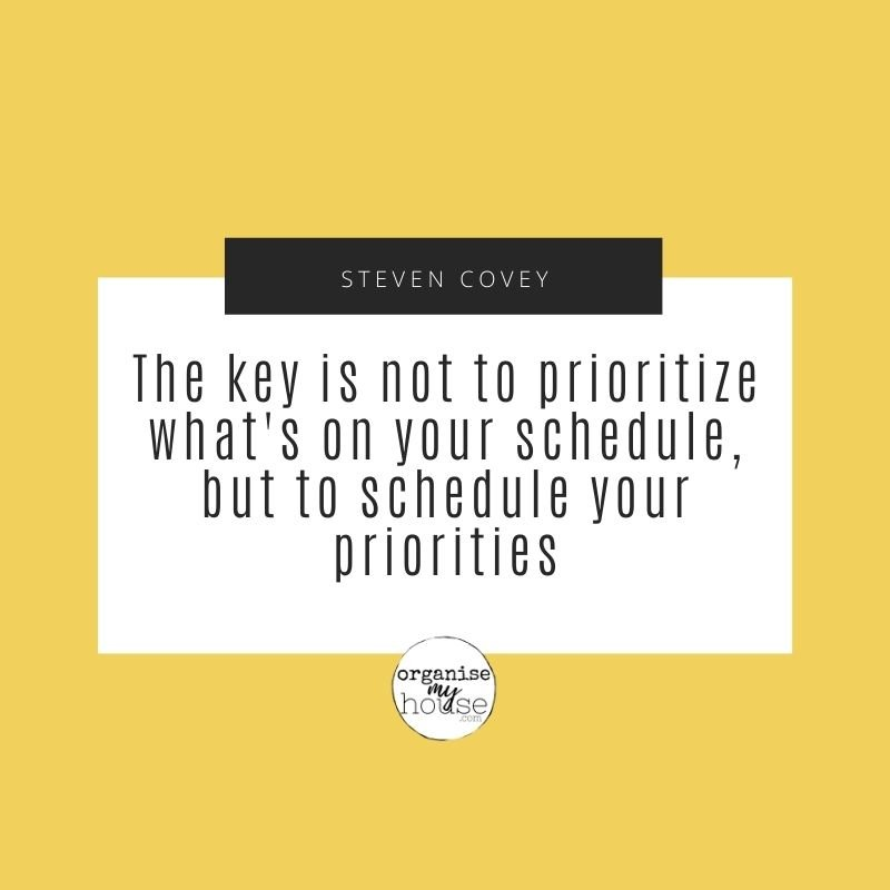 Quote - The Key is not to prioritize