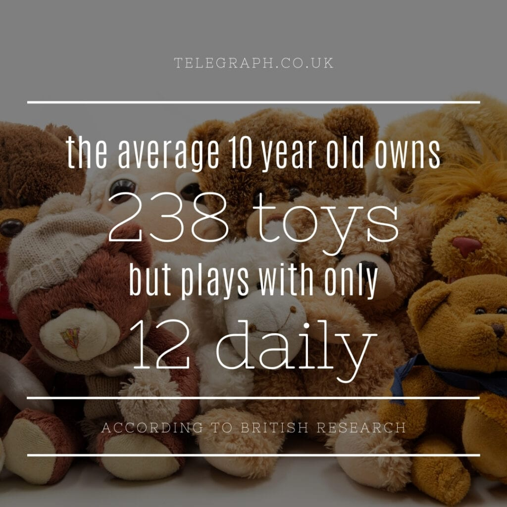 Clutter statistic about toys