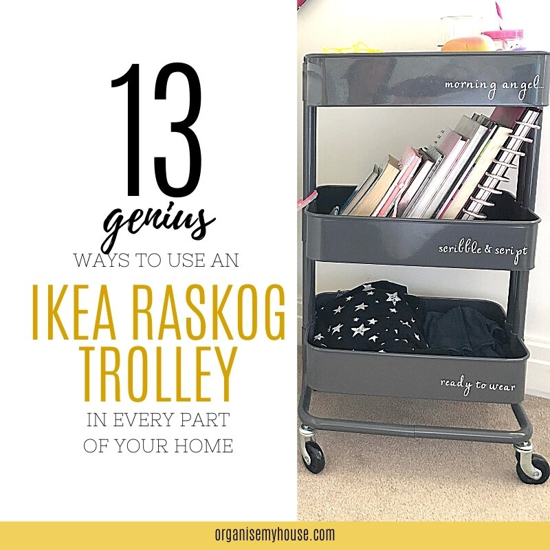 13 Genius ways to use an IKEA Raskog Trolley in every room of your house