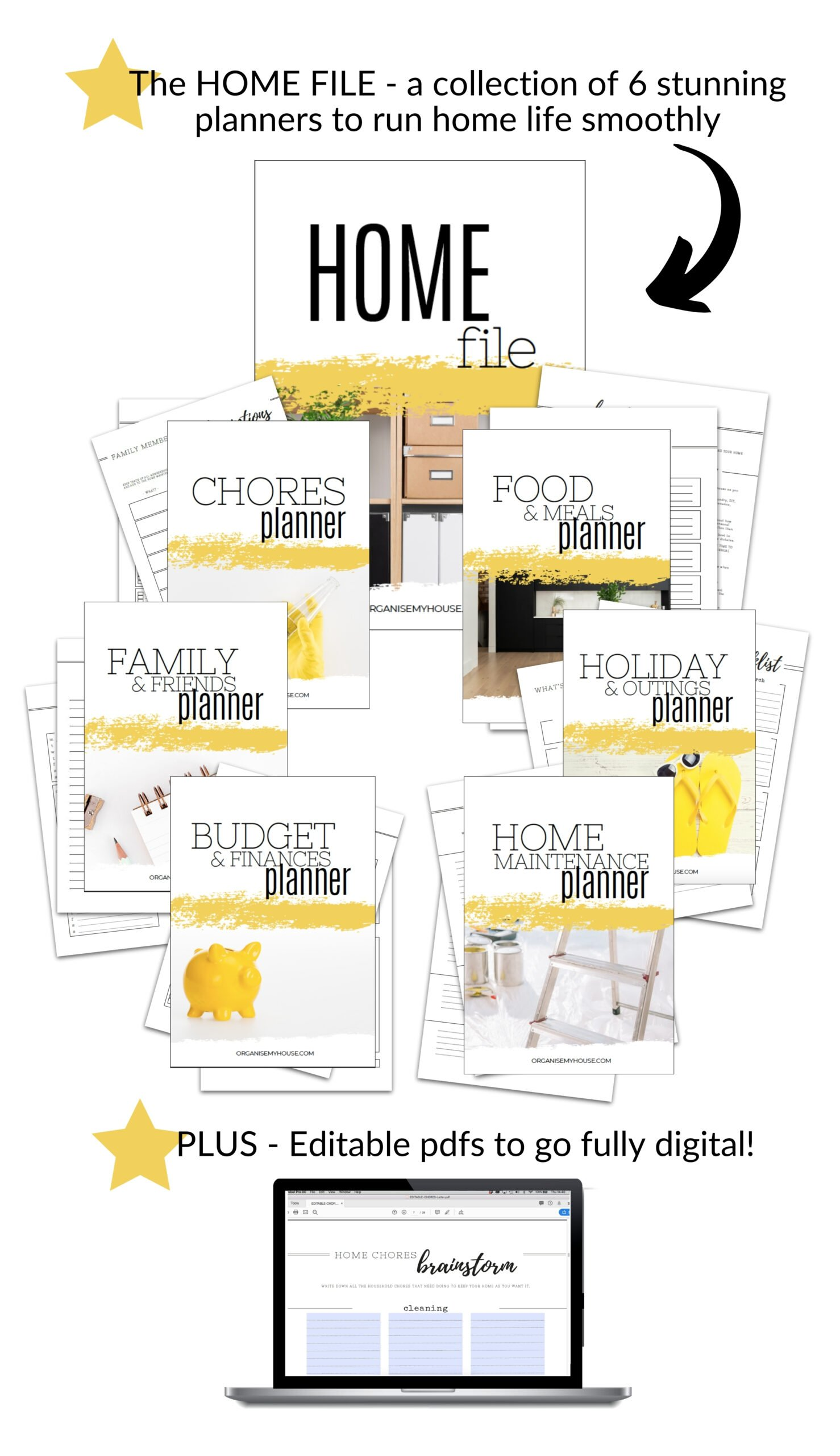 Home Management Binder - Home File - Contents